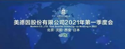 美德因股份有限公司2021第一季度总结会议在西安召开!